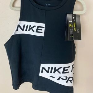 Nike Pro Tight Fit Cropped Tank Athletic Top